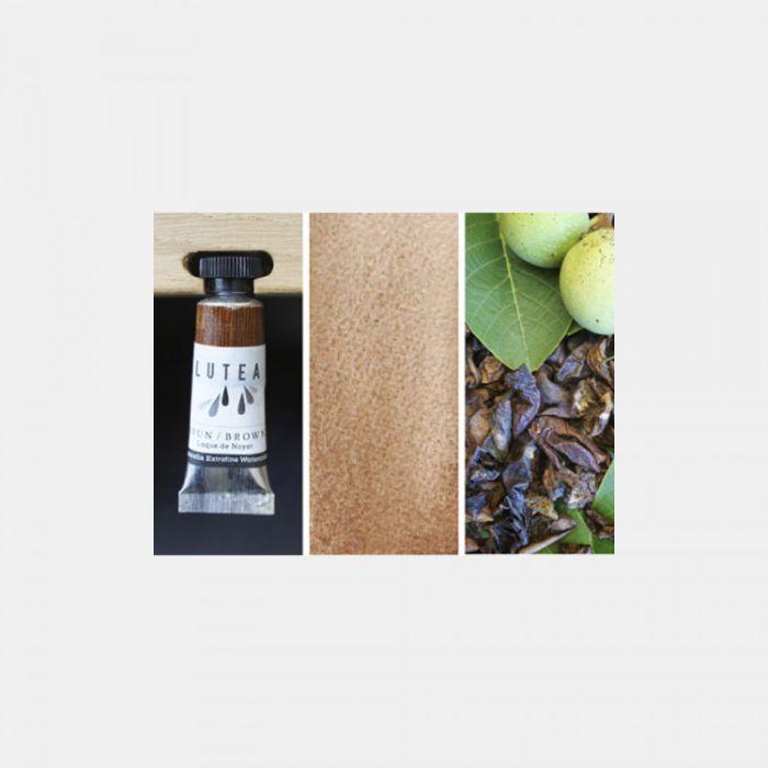 Акварель органическая LUTEA -  Brown (Walnut). Туба 9 мл