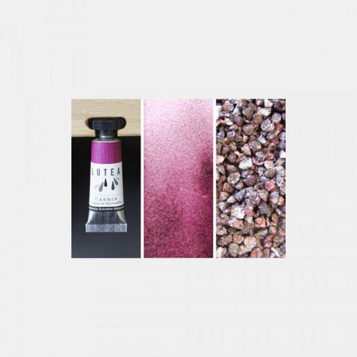 Акварель органическая LUTEA -  Carmine (Cochineal). Туба 9 мл