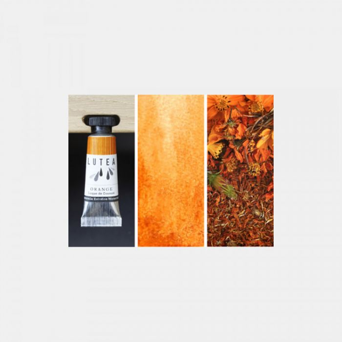 Акварель органическая LUTEA -  Orange (Cosmos). Туба 9 мл