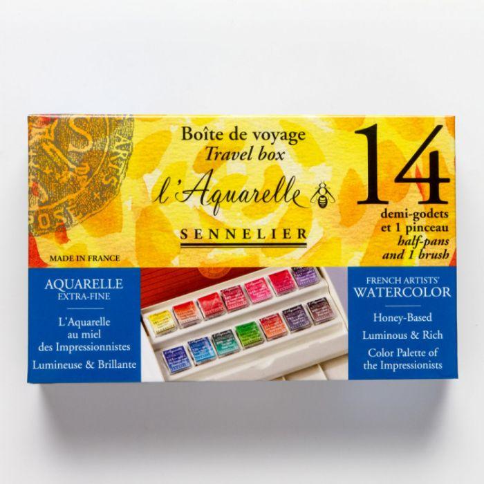 Акварельный набор для пленэров и путешествий Sennelier 14 цветов