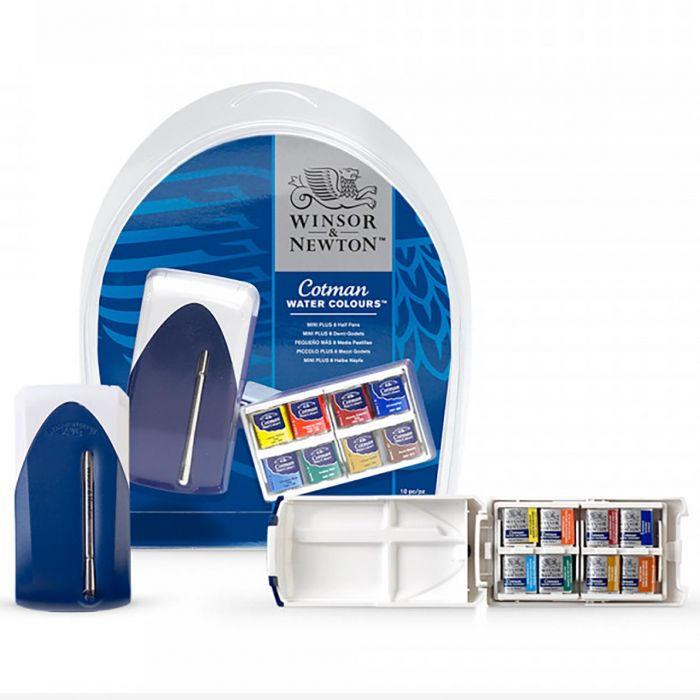 Акварельный набор для путешествий Cotman Mini Plus. Серия Cotman. 12 кюветок половинок