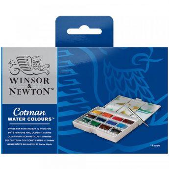Акварельный набор для путешествий Winsor & Newton серия Cotman. 12 кюветок