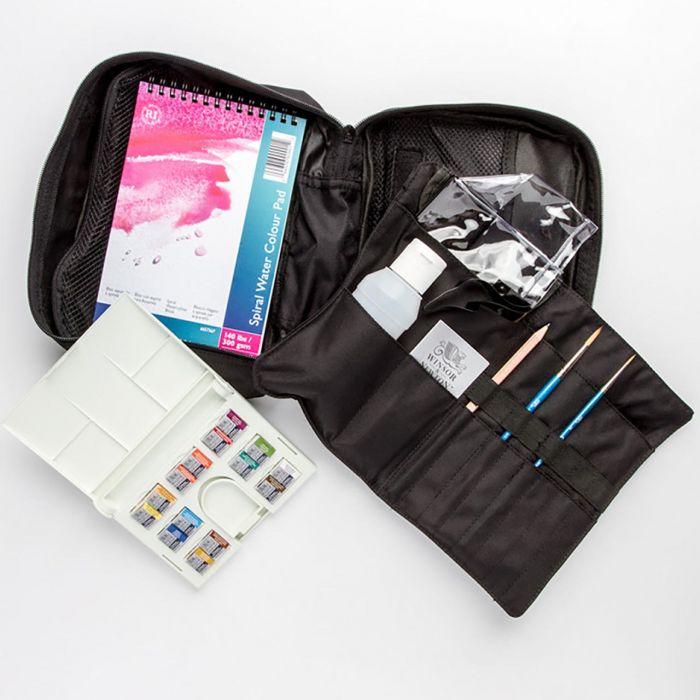 Акварельный набор для пленэров и путешествий Winsor & Newton Cotman Travel Bag 14 цветов