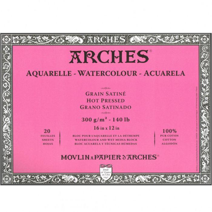 Профессиональная акварельная бумага ARCHES. Три склейки по 20 листов. 31X41 см. 300 gsm. 100% хлопок. Фактура на выбор - гладкая, среднее зерно, грубое зерно