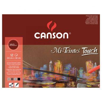 Профессиональная бумага для пастели Canson : Mi-Teintes Touch. 29,7х42см, 350 г/м, 12л.