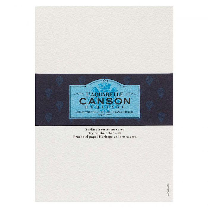 Профессиональная акварельная бумага Canson : Heritage. A5, 300 г/м, фактура грубая. Образец, на 1 заказ.