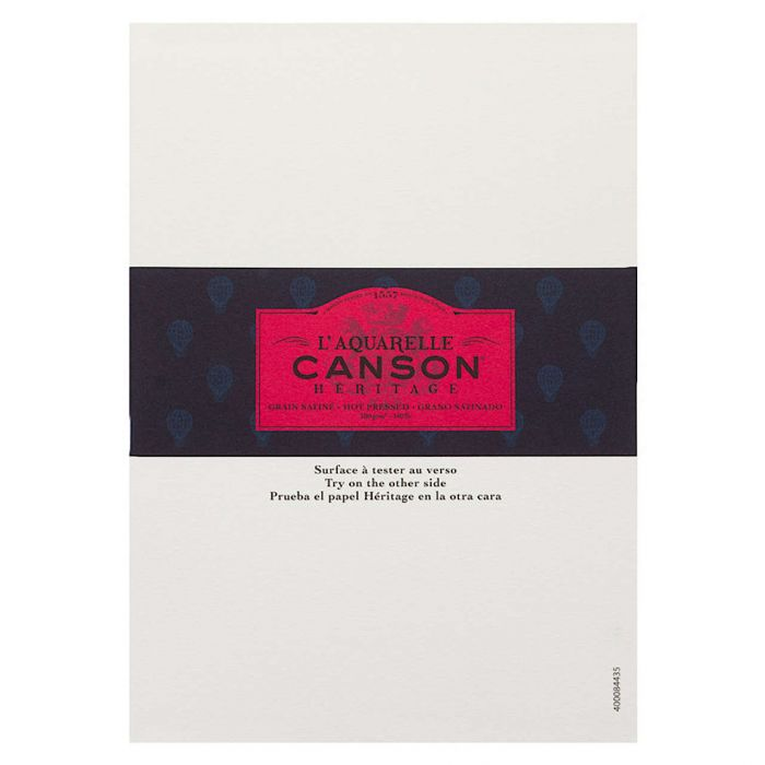 Профессиональная акварельная бумага Canson : Heritage. A5, 300 г/м, Hot Pressed. Образец, на 1 заказ.