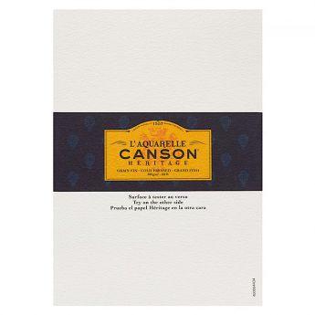 Профессиональная акварельная бумага Canson : Heritage. A5, 300 г/м, Cold Pressed . Образец, на 1 заказ.