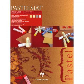Профессиональная бумага для пастели Clairefontaine : Pastelmat. 18х24 см, 360 г/м, 12л. Красная марка №1