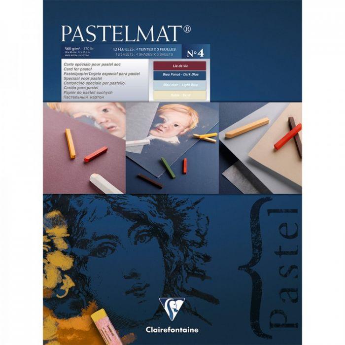 Профессиональная бумага для пастели Clairefontaine : Pastelmat. 24х30 см, 360 г/м, 12л. Синяя марка №4