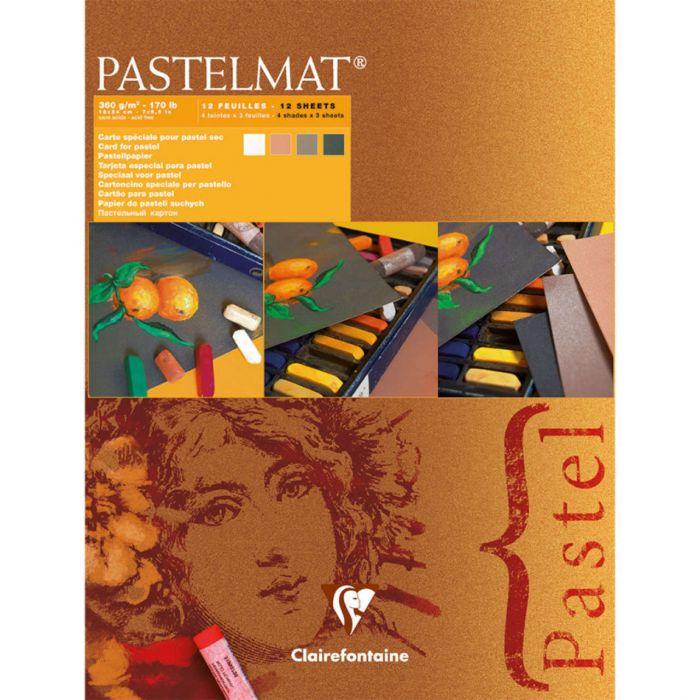 Профессиональная бумага для пастели Clairefontaine : Pastelmat. 24х30см, 360 г/м, 12л. Оранжевая упаковка.