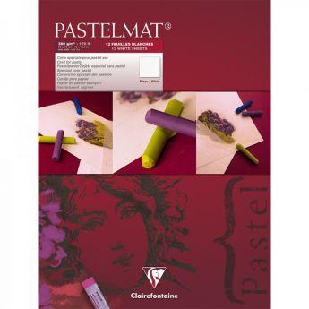 Профессиональная бумага для пастели Clairefontaine : Pastelmat. 18х24 см, 360 г/м, 12л. Белая марка №3