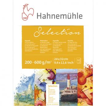 Склейка бумаги для акварели Hahnemuhle Selection 24х32, 12 листов, 200-600 г.