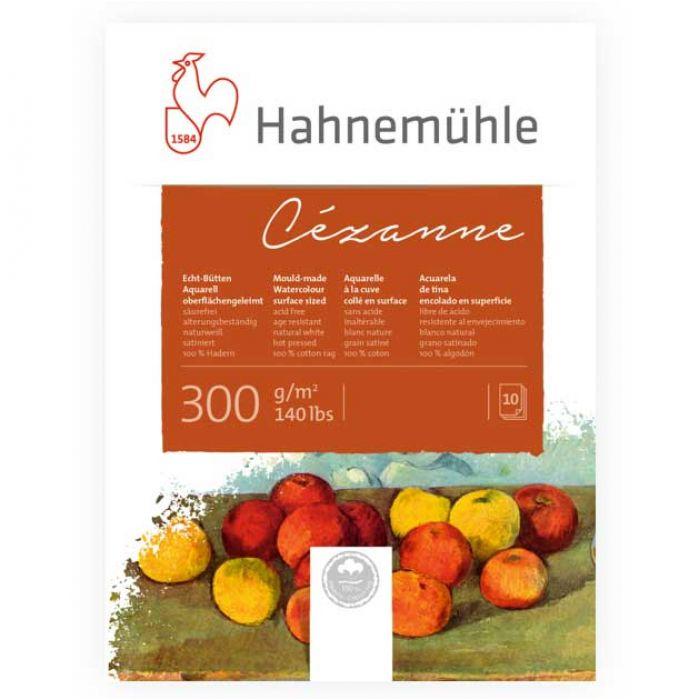 Бумага для акварели Hahnemuhle Cezanne. Склейка 24х32 см. Hot Press (гладкая) 300 г. 100% хлопок