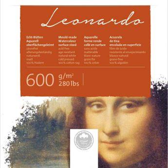 Бумага для акварели Hahnemuhle Leonardo. Склейка 36x48 см. Rough (грубое зерно) 600 г. 100% хлопок