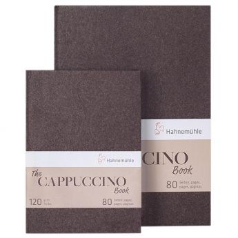 Скетчбук Hahnemuhle Cappuccino со светло-коричневой бумагой. Размер A5 (15х21), 120 гр., 40 л. - 80 стр.