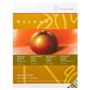 Бумага для пастели Hahnemuhle Velour. Альбом склейка, цвет White, 10 листов, 260 г/м, 30x40 см