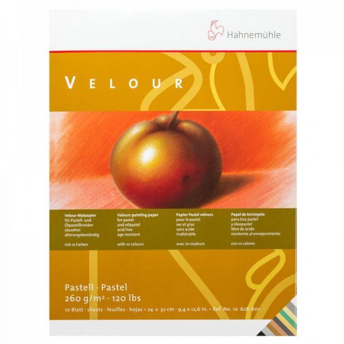 Бумага для пастели Hahnemuhle Velour. Альбом склейка, 10 цветов, 10 листов, 260 г/м, 36x48 см
