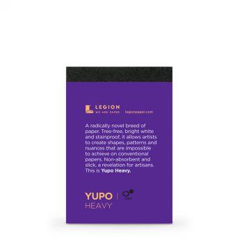 Профессиональная акварельная бумага Legion : Yupo. 390 г/м, ботаническая, синтетическая, 100% полипропилен, фактура ультра гладкая. Образец 10 мини листов, на 1 заказ.