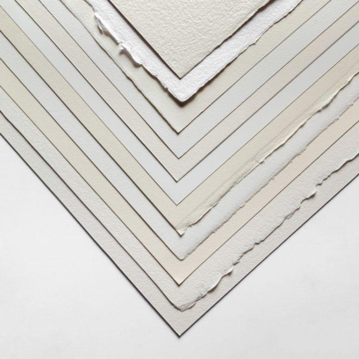 Комплект образцов хлопковой акварельной бумаги холодного прессования, разных брендов и плотности. 12 листов 28Х38 см