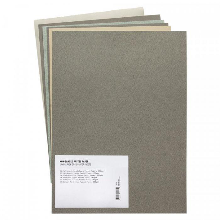Набор образцов профессиональной не абразивной бумаги для пастели. 1/4 листа. Пакет из 6 образцов