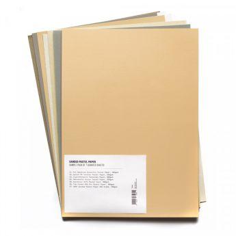 Набор образцов профессиональной абразивной бумаги для пастели. 1/4 листа. Пакет из 7 образцов