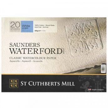 Склейка SAUNDERS WATERFORD 300 г/м 26x36 100% хлопок Cold Pressed среднее зерно 20 листов