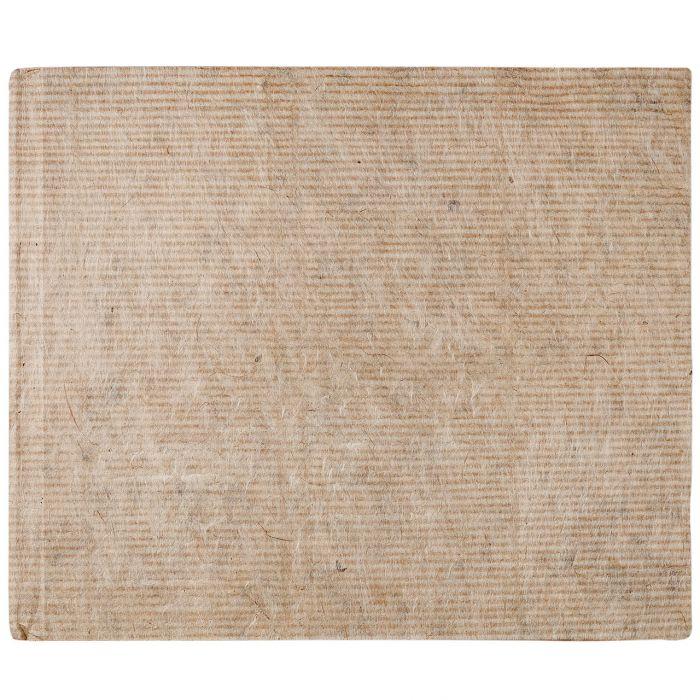Скетчбук ручной работы KHADI в твердой обложке. Бумага 100% хлопок SMOOTH - HOT PRESS 210 гр. Размер 21х25 см. 40 страниц.