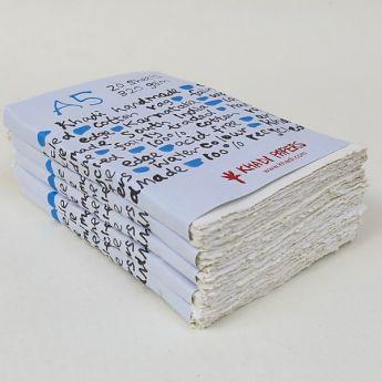 Набор акварельной бумаги KHADI. 100% хлопок Фактура ROUGH, 320 гр. Размер 15х21 см. 20 листов