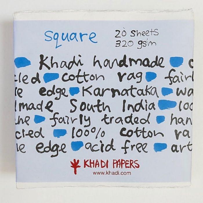 Набор акварельной бумаги KHADI. 100% хлопок Фактура ROUGH, 320 гр. Размер 30х30 см. 20 листов