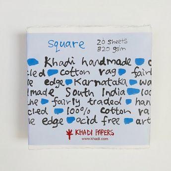 Набор акварельной бумаги KHADI. 100% хлопок Фактура ROUGH, 320 гр. Размер 20х20 см. 20 листов