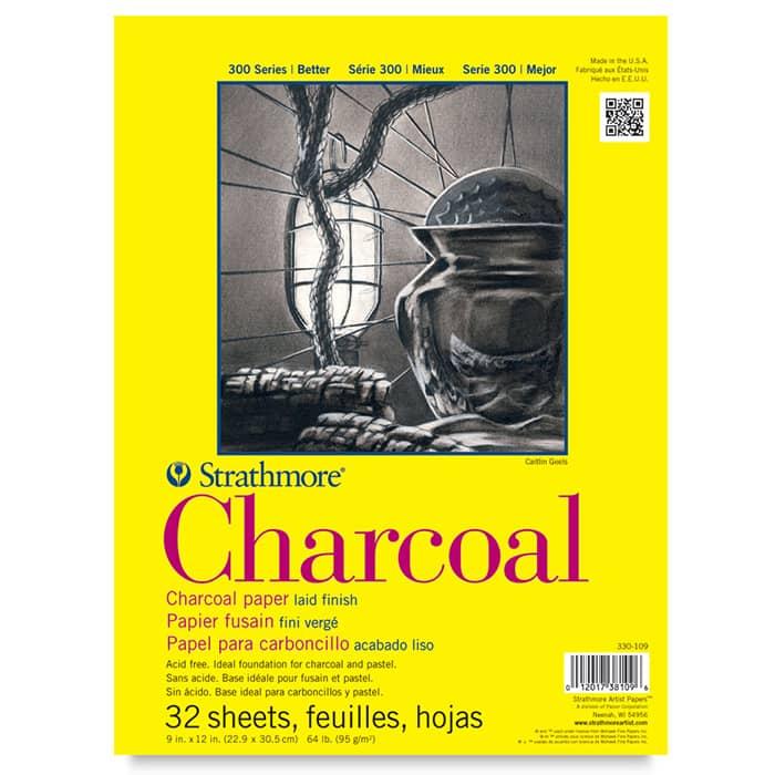 Strathmore бумага для угля - Charcoal Pad, серия 300, 32 листа, 23 x 31 см, 95 г/м, склейка