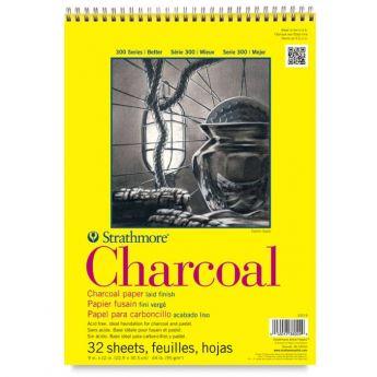 Strathmore бумага для угля - Charcoal Pad, серия 300, 32 листа, 23 x 31 см, 95 г/м, на спирали
