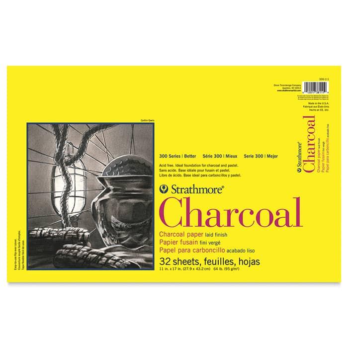 Strathmore бумага для угля - Charcoal Pad, серия 300, 32 листа, 28 x 43 см, 95 г/м, склейка