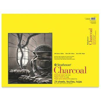 Strathmore бумага для угля - Charcoal Pad, серия 300, 24 листа, 46 x 61 см, 95 г/м, склейка