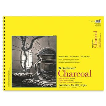Strathmore бумага для угля - Charcoal Pad, серия 300, 24 листа, 46 x 61 см, 95 г/м, на спирали