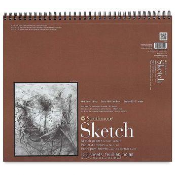 Strathmore бумага для скетчей - Sketch Pad, серия 400, фактура Fine Tooth, 100 листов, 36 x 43 см, 89 г/м (на спирали)