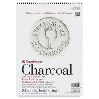 Strathmore бумага для угля - Charcoal Pad, серия 500, 24 листа, 23 x 31 см, 95 г/м, цвет белый, на спирали