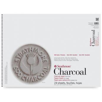 Strathmore бумага для угля - Charcoal Pad, серия 500, 24 листа, 31 x 46 см, 95 г/м, цвет ассорти, на спирали