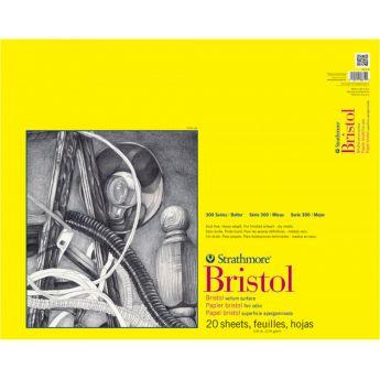 Профессиональная бумага для графики Strathmore BRISTOL серия 300: склейка 36 x 43 см, 270 г/м, Vellum, 20 листов