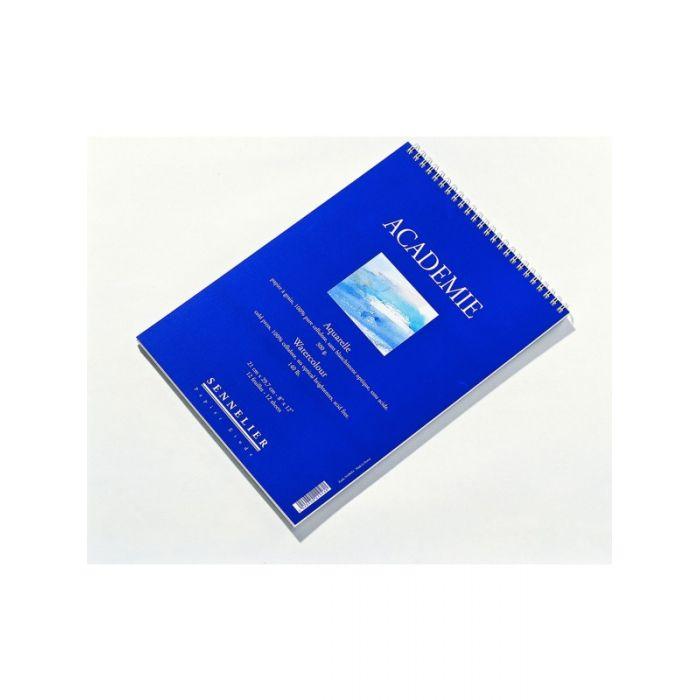 Альбом для акварели Sennelier Académie на спирали, целлюлоза 300 г/м 16x24 cм