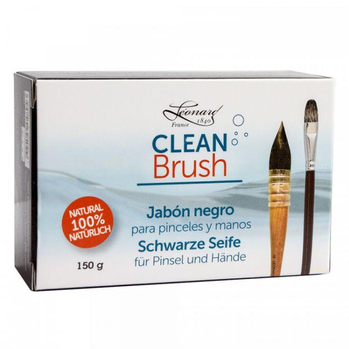 Мыло для кистей и рук LEONARD BLACK SOAP в картонной коробке 150 гр