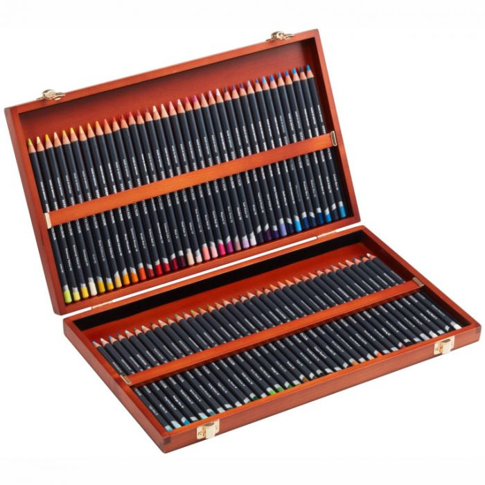 Набор цветных карандашей Derwent Procolour в деревянной коробке. 72 цвета