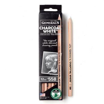 Угольные карандаши General white (Дженерал белые), упаковка 12 шт.