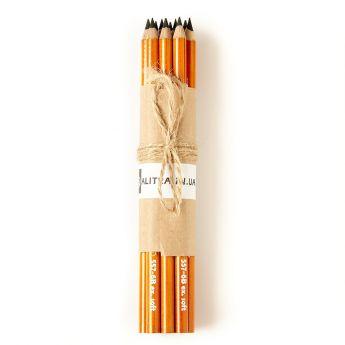 Угольные карандаши General (Дженерал) HB Hard, 2B Medium, 4B Soft, 6B Extra Soft - набор 12 шт.