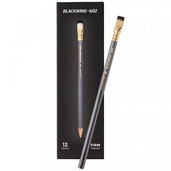 Графитный карандаш Palomino Blackwing 602. Твёрдость 2B. Набор 12 шт