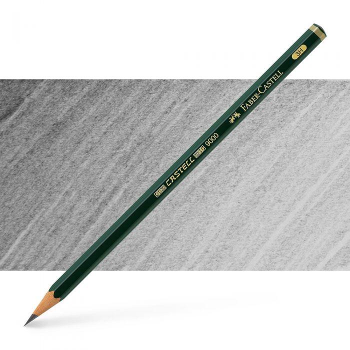 Графитный карандаш Faber Castell 9000, твердость 3H
