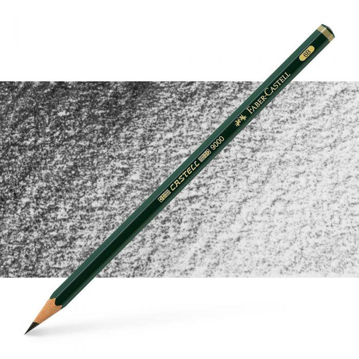 Графитный карандаш Faber Castell 9000, твердость 6B
