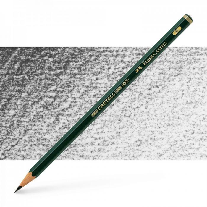 Графитный карандаш Faber Castell 9000, твердость 8B