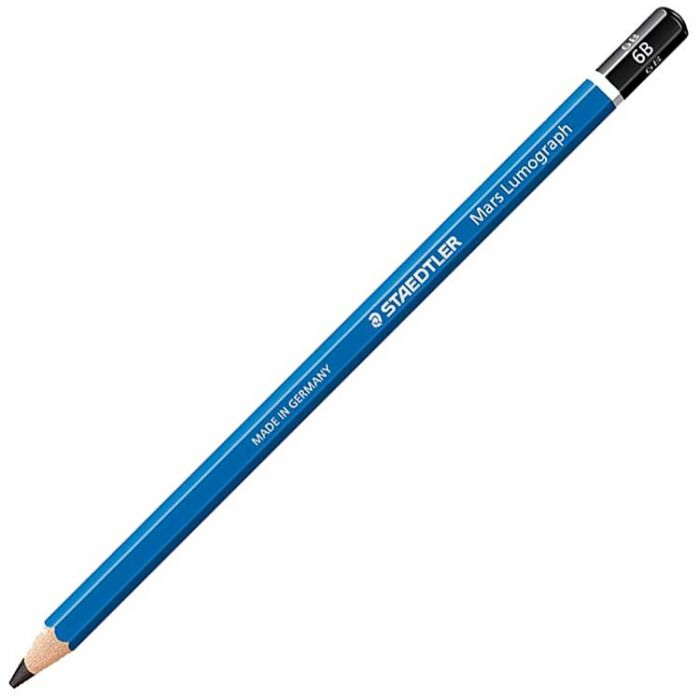Графитный карандаш Staedtler Mars Lumograph, твердость 6B